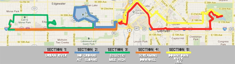 Map of the Colfax Marathon course