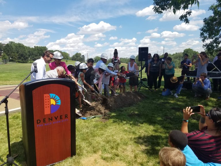 Shovels dig in at the Paco Sanchez Park groundbreaking