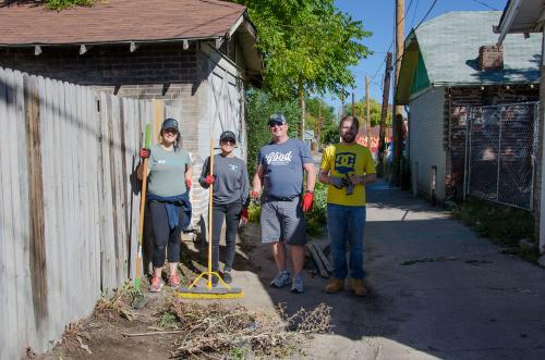 Alley clean-up at West Colfax Clean-Up Day